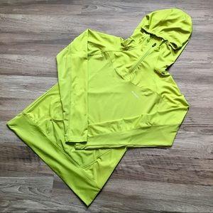 Columbia hoodie, highlighter yellow, sz M